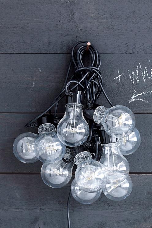 belysning til haven udendørs lyskæde